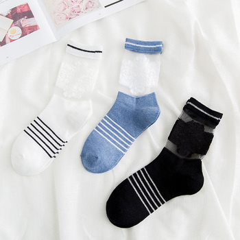 Women Crystal Socks 3 Pairs 1