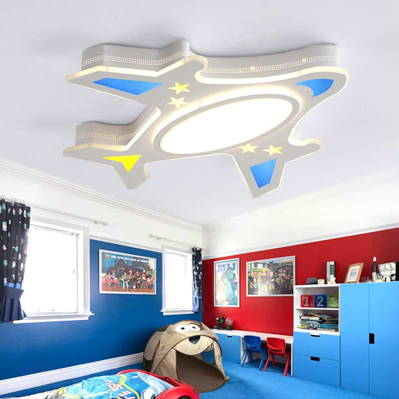 Modern Kids Lamp Acrylic Led Ceiling Light With Remote Control Living Room Bedroom Children Room Decor Home Lighting 220V bdbqbl modern art led table lamp lustre for living room bedroom light ghost desk lamp acrylic lampshade home lighting abajour