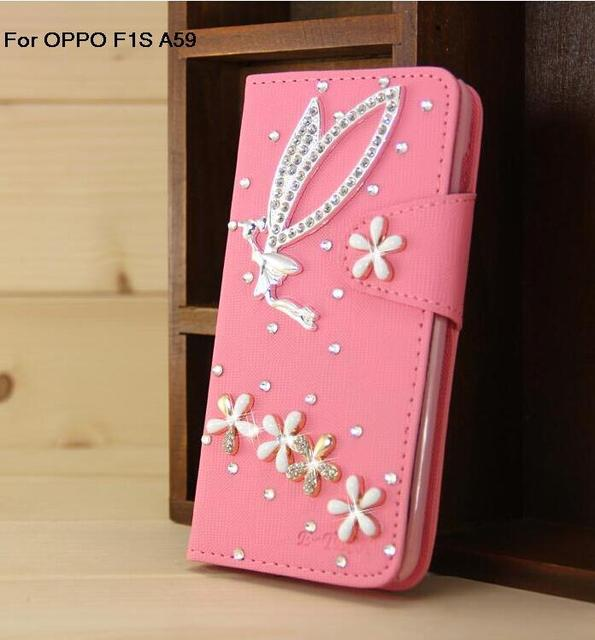 los angeles 2abf3 935a5 US $11.44 |For OPPO F1S A59 Diamond Phone Case protective sleeve cover  mobile phone case of protective sets drill shell Free shipping on ...