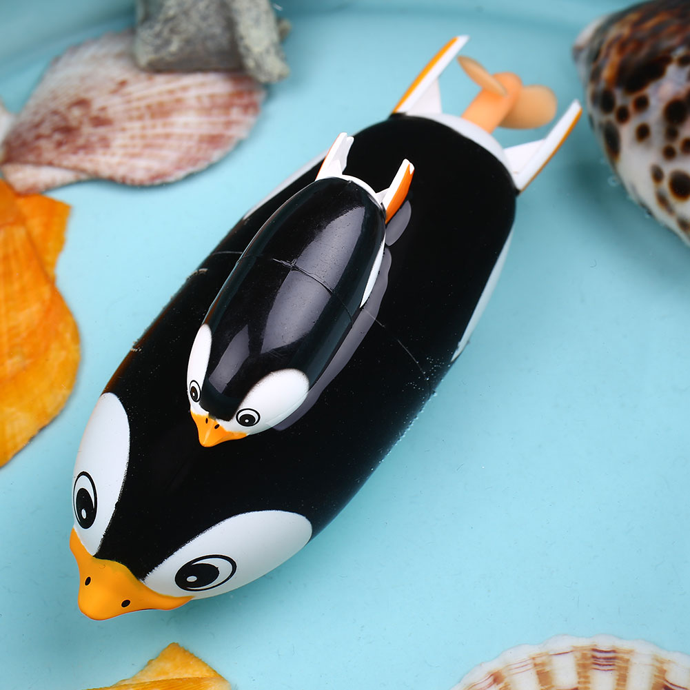 Peradix 2PCS Penguins Electric Animal Toy Swiming toy for Baby Educational Two Bath Battery Pack electric penguin bath toy