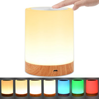 KMASHI LED Touch Lamp Night Light Rechargeable Dimmable RGB 2800K 3100K Warm White Light Color Change