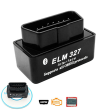 Mini ELM327 OBD2 II coche Bluetooth escáner coche herramienta de diagnóstico par Android Auto DTCs herramienta de escaneo