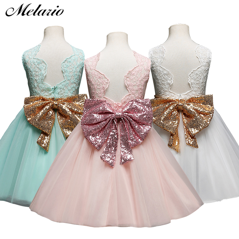 Melario Baby Girl Tutu Dress costume for Kids Sleeveless Christening tulle Wedding party Princess Dresses Toddler Girls Clothes chamsgend summer toddler kids baby girls clothes printing sleeveless dress small house vest princess tutu dresses june8 p30