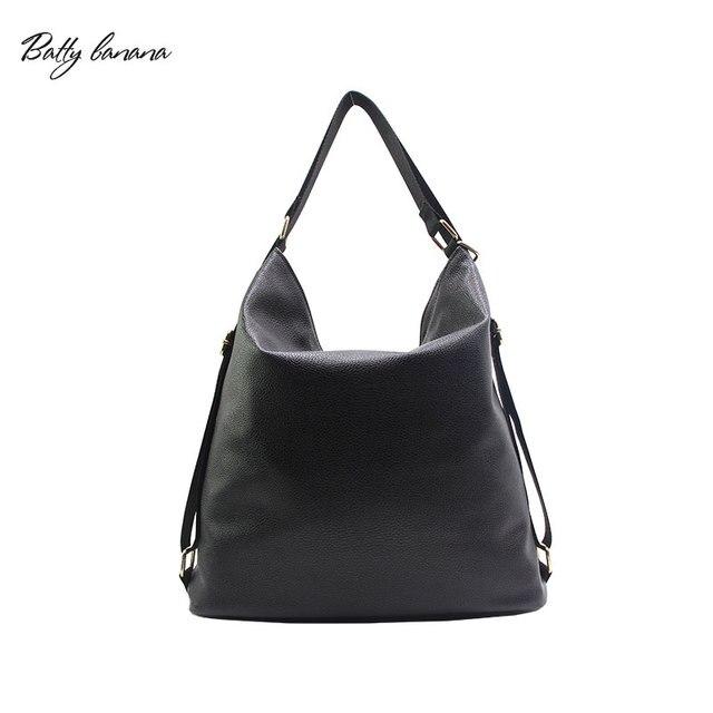 1d8e464271609 BATTY BANANA Women Bag Designer Handbag Black Shoulder Bags Female Hobos  For Woman High Quality Solid