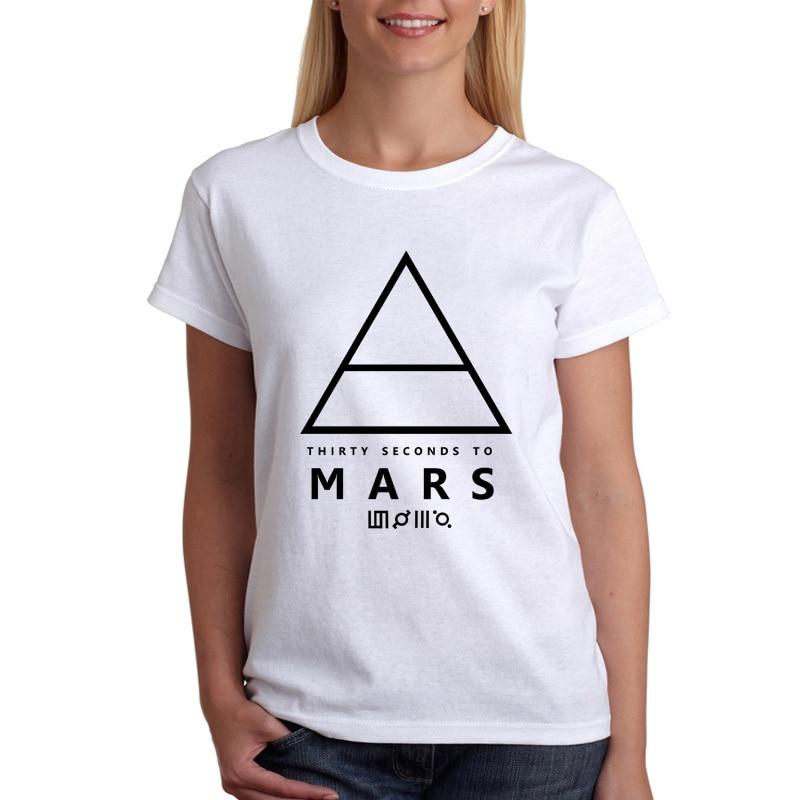 Новые футболка женщин 30 Seconds To Mars футболка с коротким рукавом с круглым вырезом и принтом модальный рубашка ...