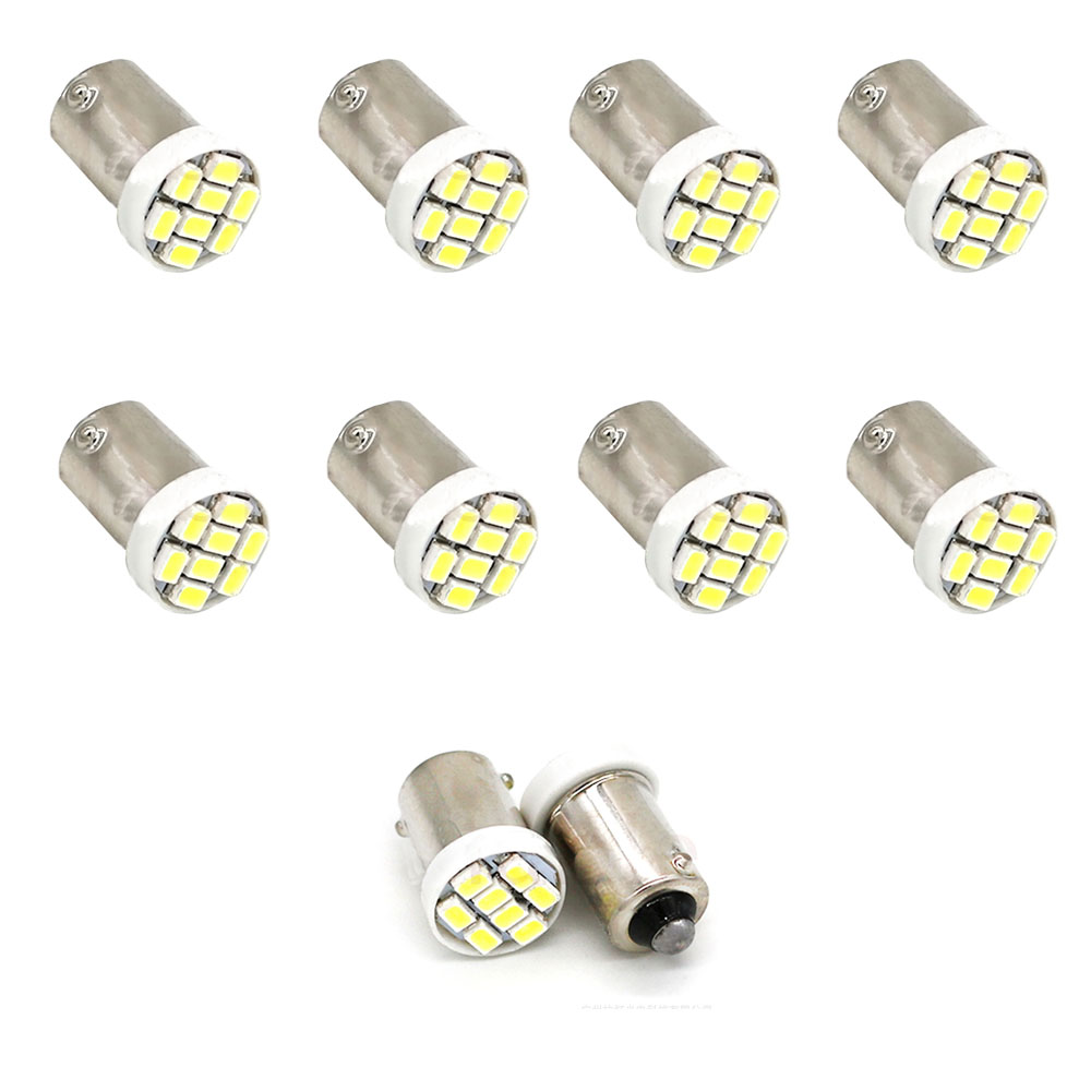 10PCS High Quality T4W BA9S 8 SMD 1206 LED Interior Light 3020 8smd Wedge Auto Reading Dome Lamps Car Marker Light 8led DC 12V white color t10 led 8 smd 1206 8leds 8smd car interior light 194 168 192 w5w 3020 auto wedge lighting dc 12v clearance lights