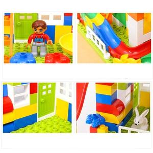 Image 5 - DIY เมืองที่มีสีสัน House Roof Big Particle ปราสาท Building Blocks ใช้งานร่วมกับ Duploe สร้างสรรค์อิฐของเล่นสำหรับเด็กของขวัญเด็ก