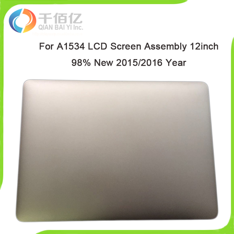 Original 98% New A1534 LCD Screen Assembly for Macbook Pro A1534 12'' LCD Display Assembly 2015 2016 Year Replacement new assembly lcd display