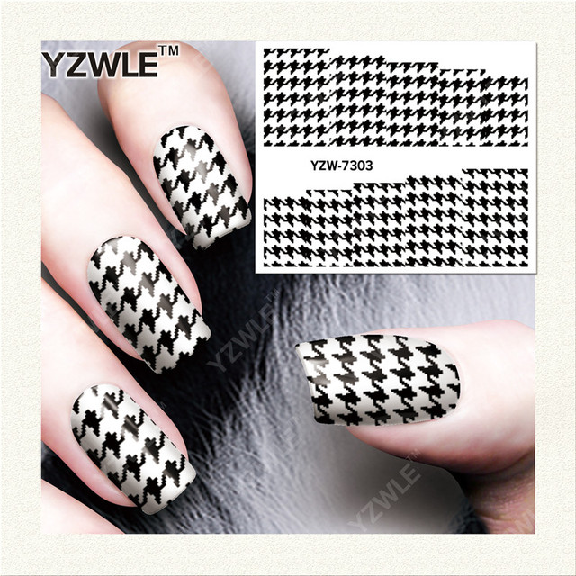 YZWLE 1 Sheet DIY Decals Nails Art Water Transfer Printing Stickers Accessories For Nails YZW-7303