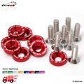SK2 8 pieces Fender Universal Washers Bumper Washer Lisence Plate Bolts Kits TK-DP01S