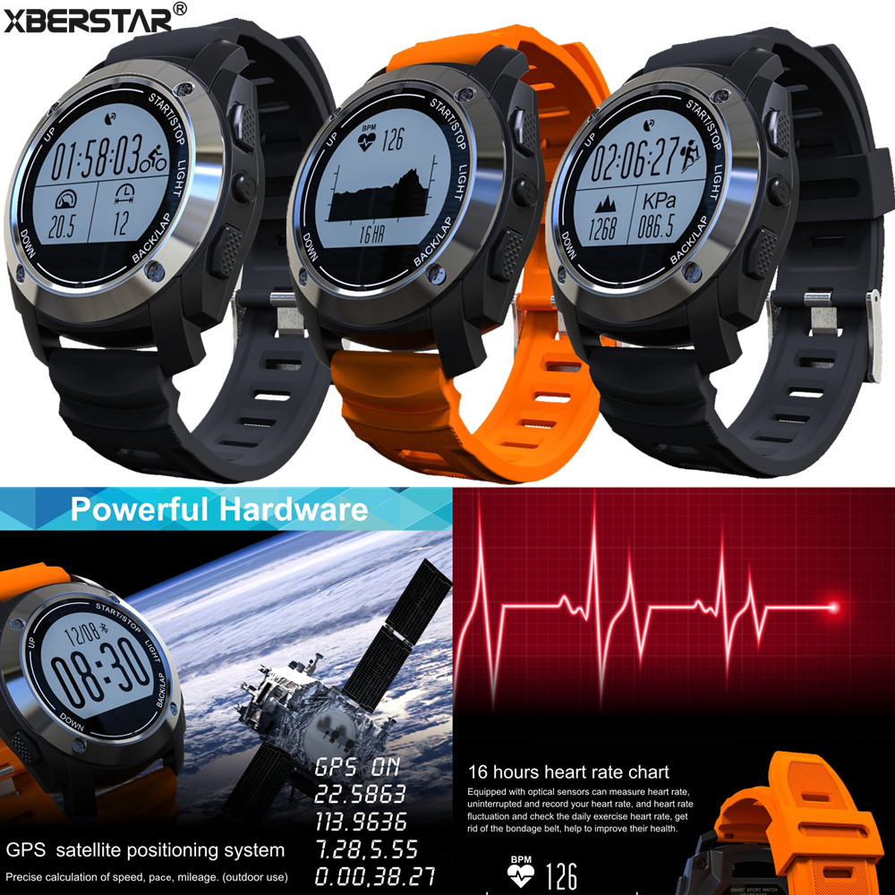 Outdoor Sports GPS Sport Smart Watch Supporting Pedometer / Heart Rate / Pressure / Temperature garmin fenix 5s sapphire 42mm sports gps heart rate watch with compass