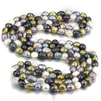 Beautiful Fashion New Design 100 Real Genuine Cultured 10mm Baroque Natural Freshwater Pearl Necklace Jewelry Design