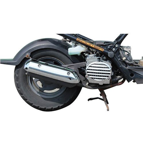 Motorcycle Scooter Plating /Carbon Fiber Engine Cooling Box Cover Exhaust Pipe Cover Muffler Cover for HONDA ZOOMER DIOZ4 zoomer ruckus fi nps50 black engine frame extend extension kit with handle post