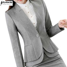 NAVIU Elegant and Fashion Women blazers autumn temperament long-sleeve