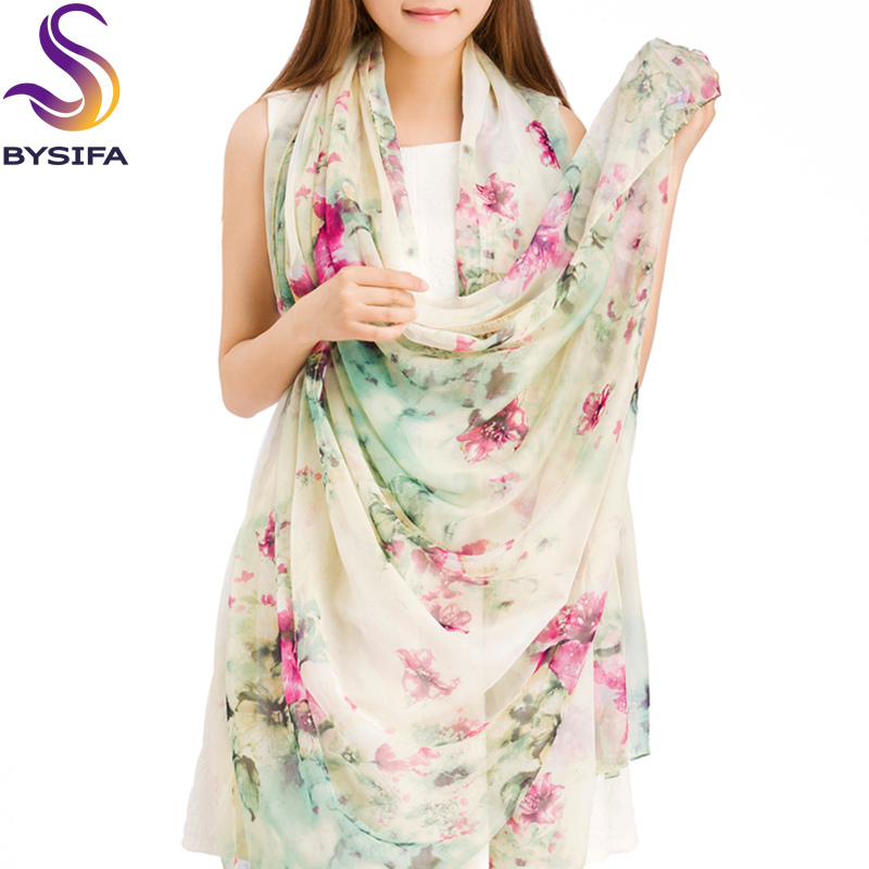[BYSIFA] Winter Women Silk   Scarf     Wraps   Fashion Accessories Ultralarge Thermal Long   Scarf   Cape Super Large Chiffon   Scarf   Shawl