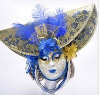 Party Masks Venice Masquerade Masks Anonymous mask With Coloured Drawing feather Venetian Costumes for Halloween Christmas Party
