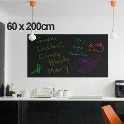 Desenhar Placa de Giz Blackboard Stickers Vinil Removível Mural Art Decor Quadro Adesivos de Parede para Quartos Dos Miúdos 200X60 Durável cm