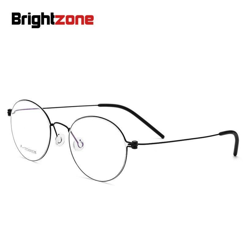 Brightzone Denmark Manual B Titanium Glasses Frame Electroplate Korea Best Round Pure Titanium Myopia Spectacle Frame