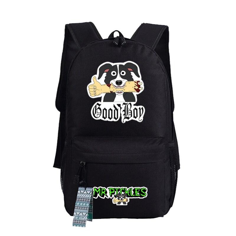 Mr Pickles Printed Schoolbags Women Men Cosplay Bag Student School Backpack Shoulder Mochila Bags Gifts mr men my first mr men shapes