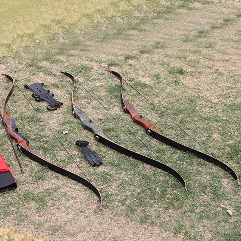 Стрельба Из Лука Демонтаж охотничий лук 30 60lbs 58 дюймов ламинированные деревянные изогнутый лук и стрелы съемки оборудования