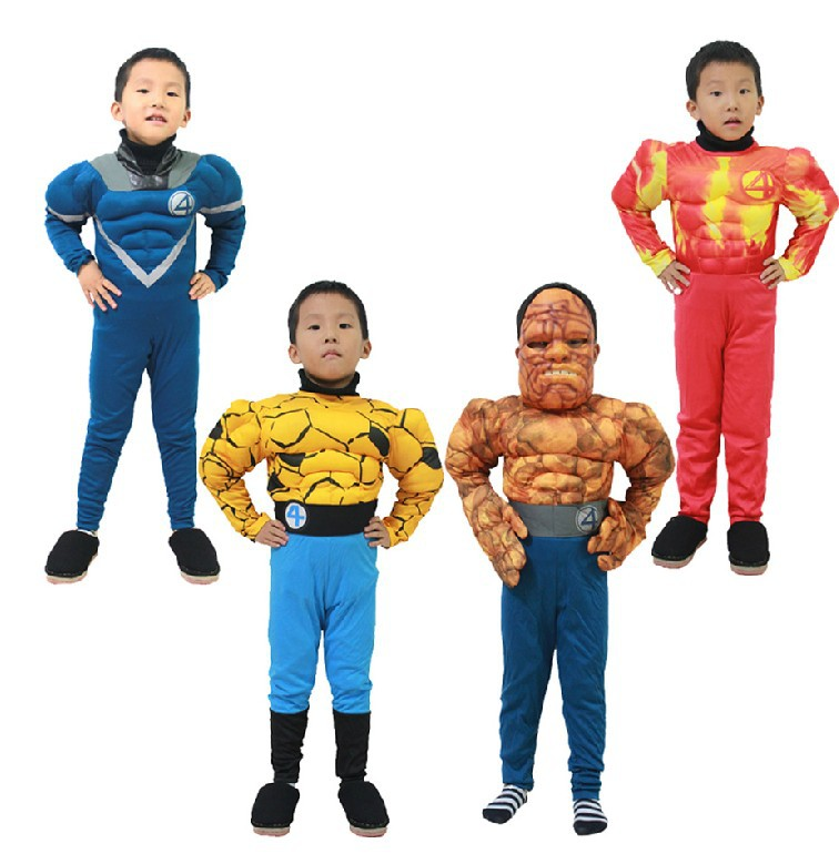 Free shippingkid halloween party Fantastic Four Mr. Fantastic Invisible Woman The Thing costume Human Torch clothes clothing-in Boys Costumes from Novelty ...  sc 1 st  AliExpress.com & Free shippingkid halloween party Fantastic Four Mr. Fantastic ...