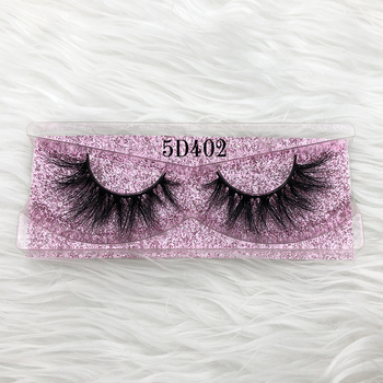Mikiwi 5D402 3D mink lashes 5d rose gold glitter case box Eyelashes Mink Lashes natural handmade volume soft