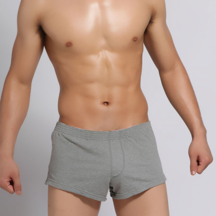 SEOBEAN men's men's cotton boxer underwear lounge shorts pajama home pants