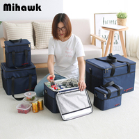 Mihawk Extra Large Cooler Bag Women Thicken Ice Tote Men Insulated Lunch Pouch Thermal Cold Fresh Food Picnic Container Supplies