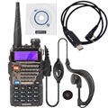 NKTECH USB Programming Cable & 1 Pack BAOFENG UV-5RE Dual Band VHF UHF 136-174/400-520MHz 5W  Two Way Radio Walkie Talkie