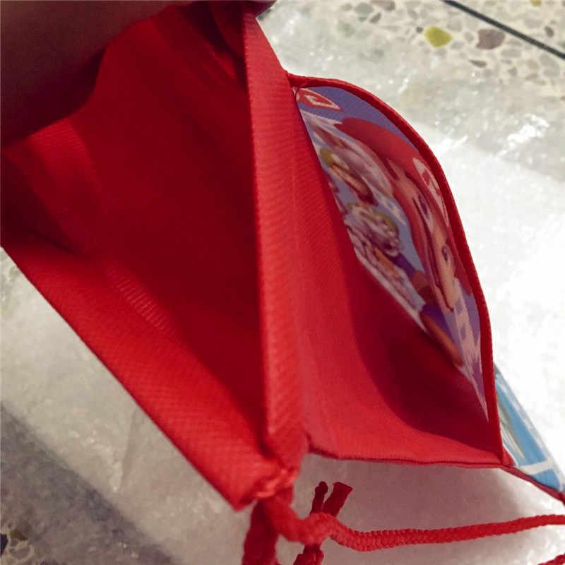 1pc חדש סופר מריו Bros בית ספר תרמיל עבור ילד, ילדה ספיידרמן כפול כיס שרוך תיק יום הולדת מתנות תיק