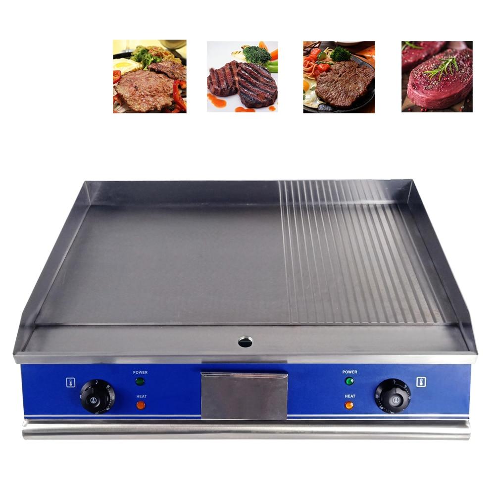 Multifuncional elétrica grill para o restaurante ou o uso da cozinha de casa de cachorro quente Coreano CHURRASCO bandeja da grade semi-plana semi- onda pan