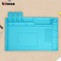 Binoax 450x300mm Heat Insulation Silicone Pad Desk Mat Maintenance Platform For BGA Soldering Repair Station Magnetic