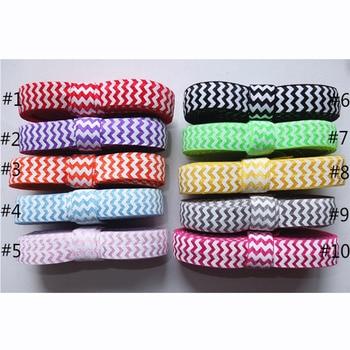 5/8 fold over elastic   16MM printed Chevron FOE for DIY hairbows   elastic ribbon    chevron FOE   free shipping