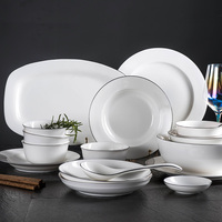 YOLFIE Minimalist Dinner Ceramic Plate Unique Dinnerware Set Dish Dessert Plate