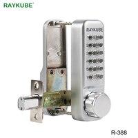RAYKUBE Waterproof Password Door Lock With Deadbolt Keyless Digital Mechanical Lock For Office Home R 388
