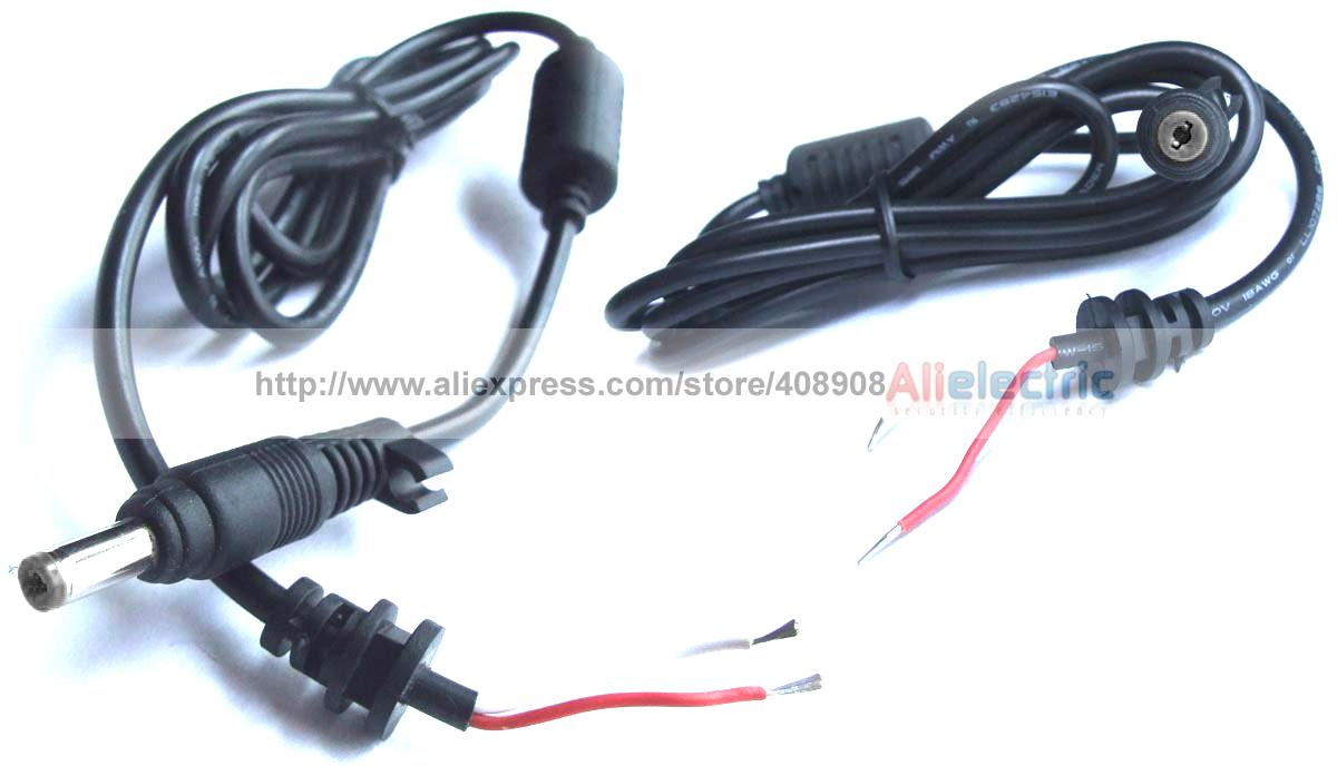 10шт 4 мм x 1.7 мм DC зарядное устройство подключите кабель Разъем 1.2 M для ноутбука