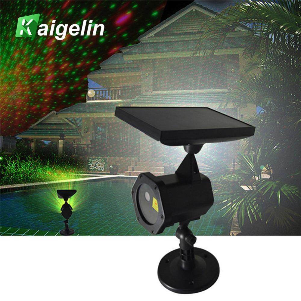 Solar LED Laser Projector Outdoor Waterproof LED Christmas Lawn Lights Laser Fariy Light Projection Star Projector