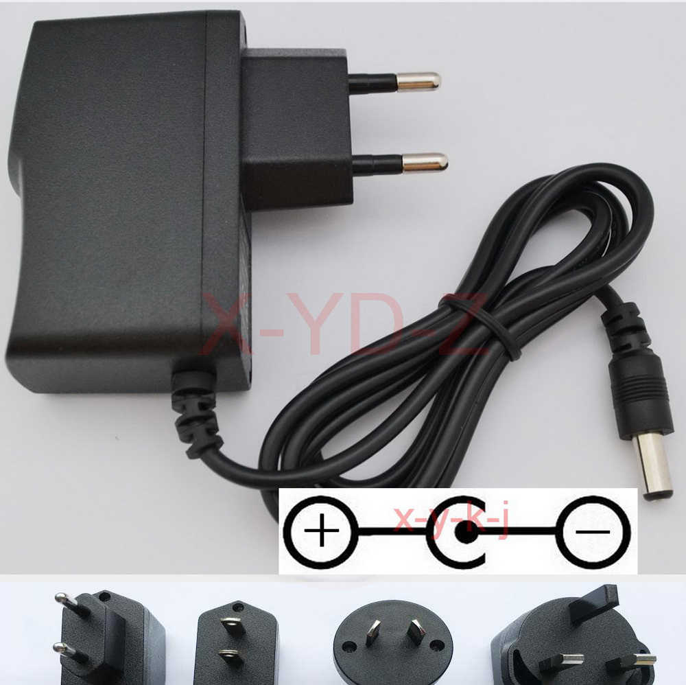 GUITAR EFFECTS PEDAL POWER SUPPLY ADAPTER UK 9V 500MA CENTRE NEGATIVE POLARITY