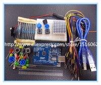 New Starter Kit UNO R3 Mini Breadboard LED Jumper Wire Button For Arduino Compatile Free Shipping