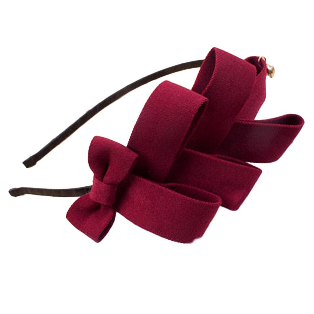Girls Cute Fabric Bows Headband Knitting Hair Band Hair Accessories