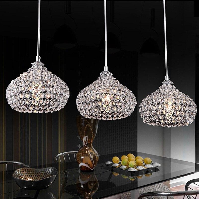 House Restaurant chandelier crystal pendant lamp, table lamp modern minimalist crystal
