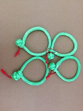 Free Shipping 4units 4mm*90mm Green Soft Shackles,UHMWPE Shackle for Yacht,Sailing Rope Shackle