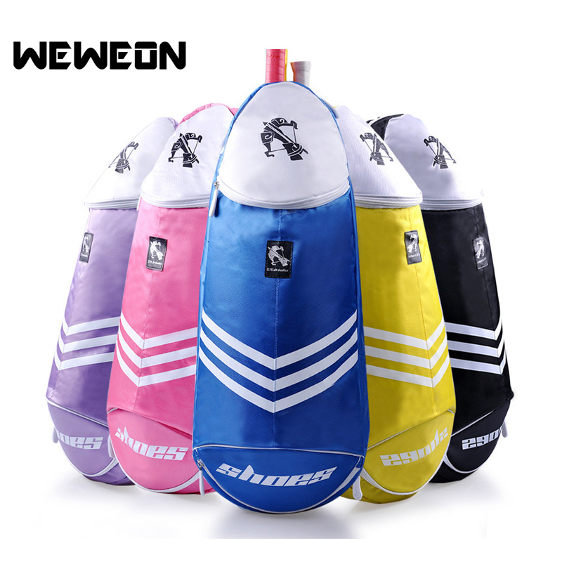 Portable Badminton Racket Crossbody Bag Sports Badminton Bag Single Shoulder (for 6 Rackets) Gym Racket Bag
