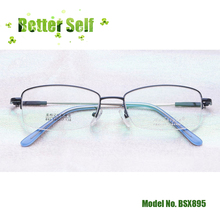 Memory Titanium Alloy Spectacles Men Half Frames Rim Metal Glasses BSX895 Can Be Equipped With Myopia Prescription Lens