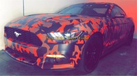 Red Black Camo Car Vinyl Car Wrap Urban Sticker Bomb Camouflage Printed Graphics PVC Material Roll Sheet