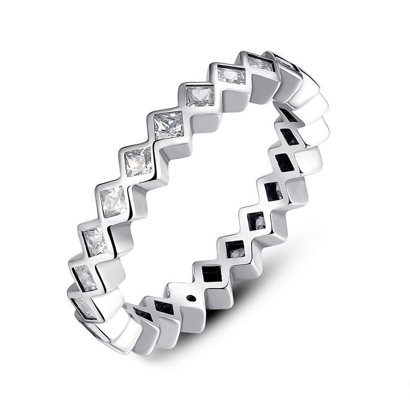 636bed40a6a7 √Venta caliente genuino 925 rómbico pequeña piedras anillos - a808