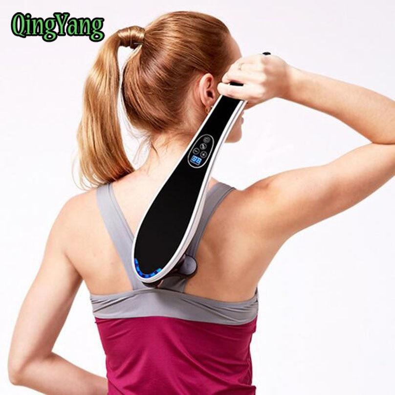 Electric Cervical Vertebra Massager Device.Vibrating Kneading Shoulder Back Neck Massager infrared Shiatsu.Body Relaxation&QY105