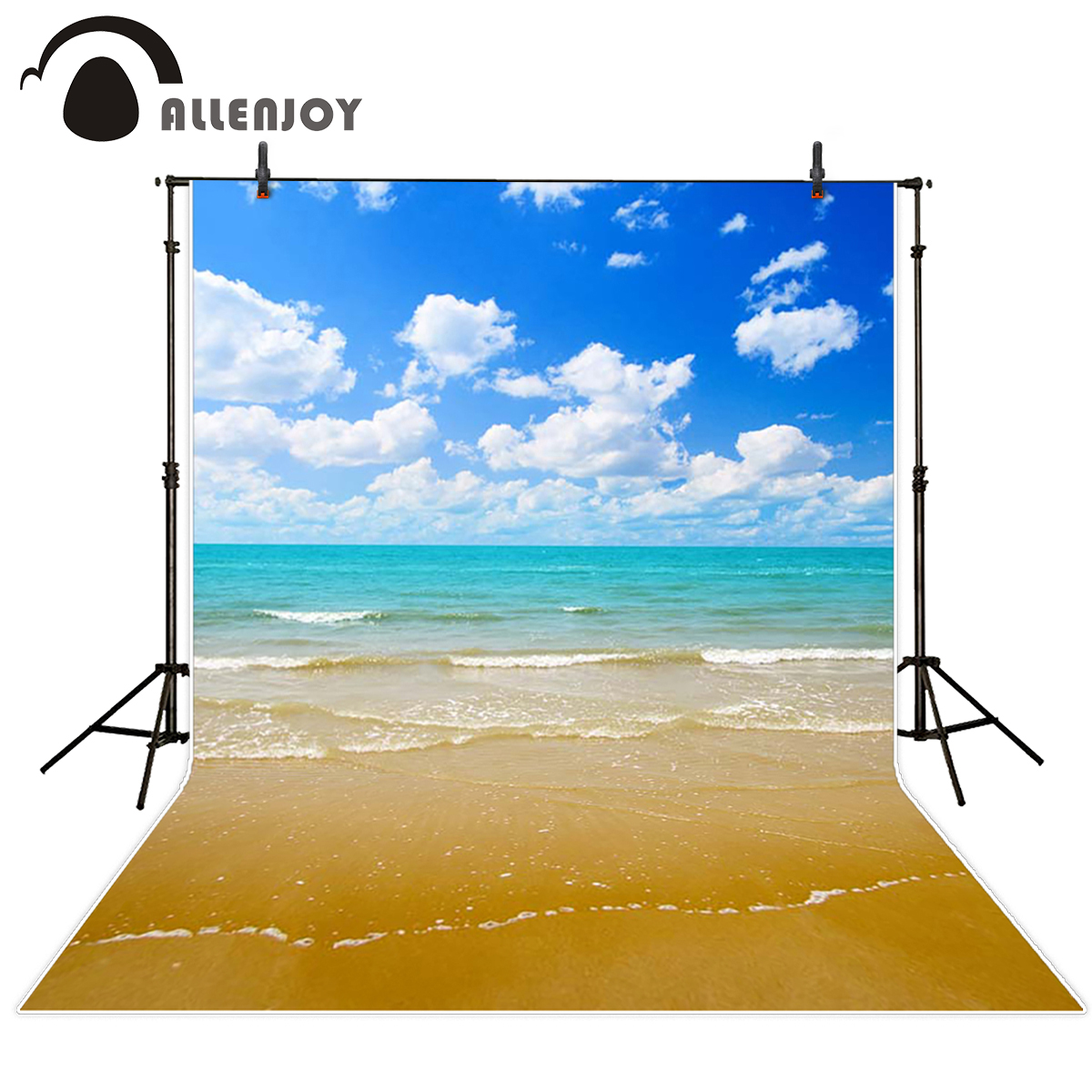 Allenjoy scenic Photo background Sea beach cloudy seaside photography scenarios backgrounds for photo studio background vinyl kate backdrop for photography beach ocean wedding series background photo studio seaside scenic backdrops