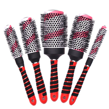 Professional 5 Piece Set Hair Ionic Barrel Brush Round Curling In High Quality Ceramic Hairbrush For Hairdressing
