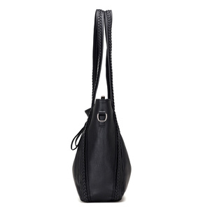 Image 4 - 2020 brand high quality soft leather large pocket casual handbag womens handbag shoulder bag large capacity handbag